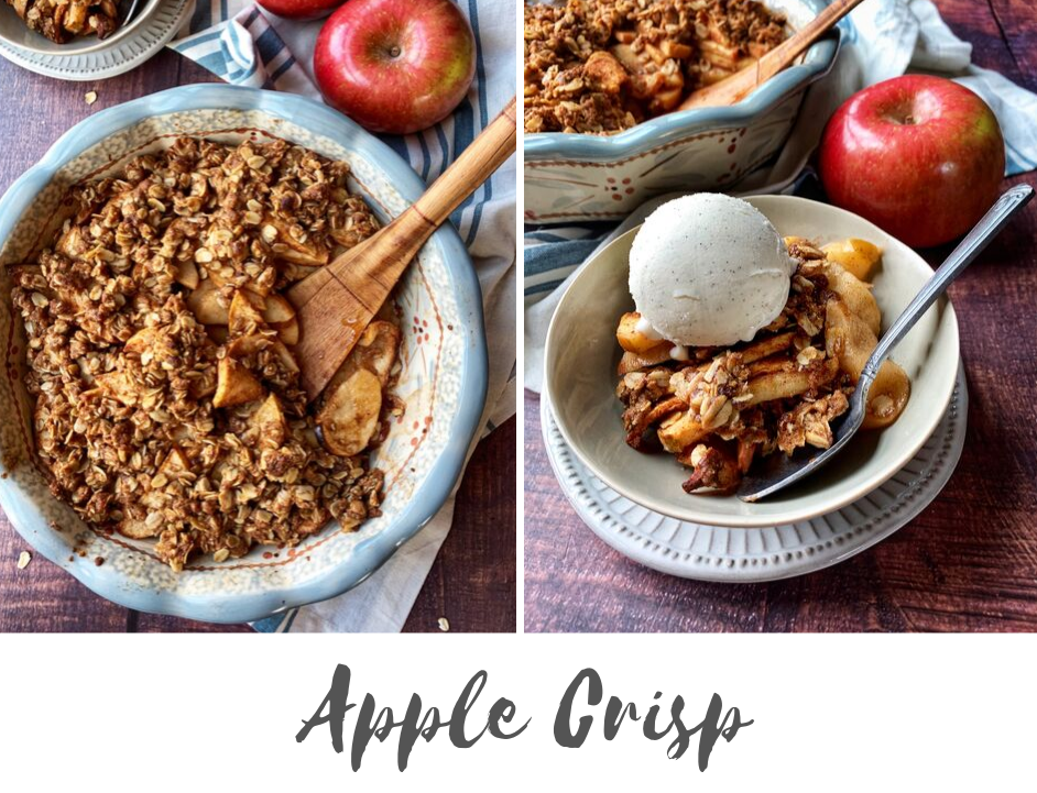 Apple Crisp with Low Added Sugar   WW Points Included   Rachelshealthyplate.com